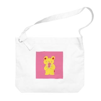KUMA_ジャムトースト Big Shoulder Bag