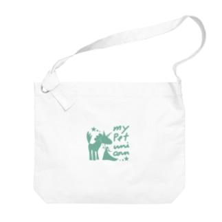 ペット*ユニコーン Big shoulder bags