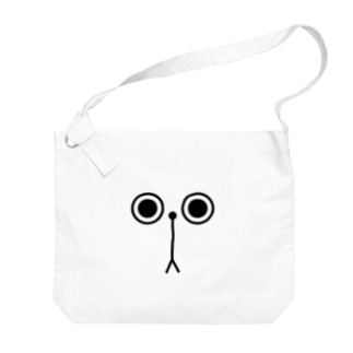 ぷんぷん顔面パーツ Big shoulder bags