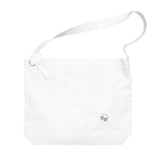 ロゴ_紺文字_ビッグショルダーバッグ Big shoulder bags
