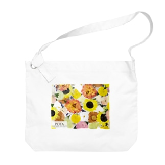 POTA花happy2 Big shoulder bags