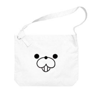 くまぽこ顔面パーツ/イヒッ Big shoulder bags