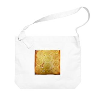 レモンチーズケーキ Big shoulder bags