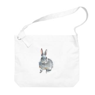 水彩風ひじちゃん Big shoulder bags