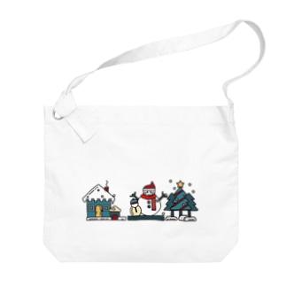 冬の風物詩 Big shoulder bags