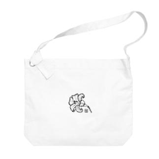 百合の花 Big shoulder bags