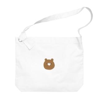 ぺろくま【ちゃ いっぴき】 Big shoulder bags