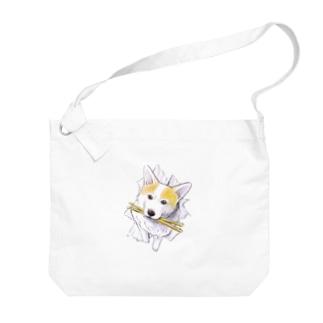 ドラムスティック☆マハロ(コーギー) Big shoulder bags