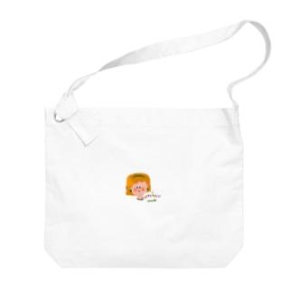 猫と女の子 Big shoulder bags