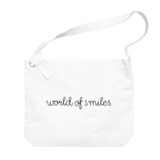 World of smiles  ビックショルダーバッグ Big Shoulder Bag