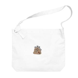 うんちのかみさま(便秘改善用) Big shoulder bags