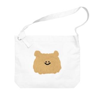 くまの顔 Big shoulder bags