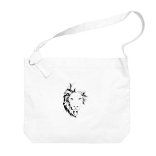 ブレない揺らぎ(モノクロver) Big shoulder bags