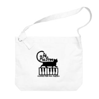鍵盤を歩くネコ Big shoulder bags