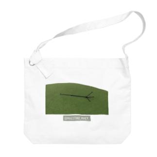 マイクスタンドのマイキー 《芝生ごろん》 Big Shoulder Bag