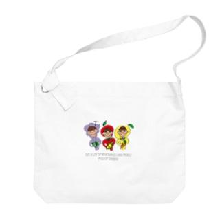 ふじフルーツ/Fuji Fruit Big shoulder bags
