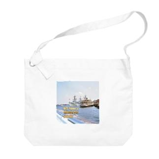 オランダ:NATOのフリゲート艦と観光船 Netherlands: NATO Frigates & Sightseeing Boat / Amsterdam Big shoulder bags