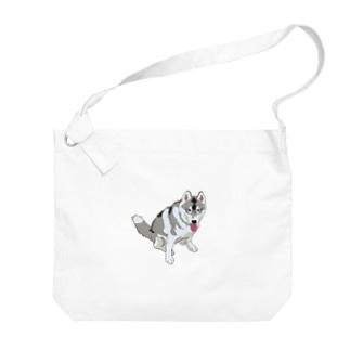 雪丸くん Big shoulder bags