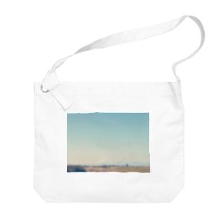 ぼんやりMt.Fuji Big shoulder bags