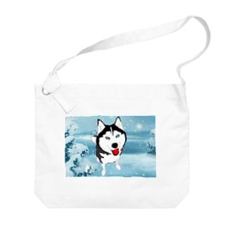 リアルハヤテくん雪景色 Big shoulder bags