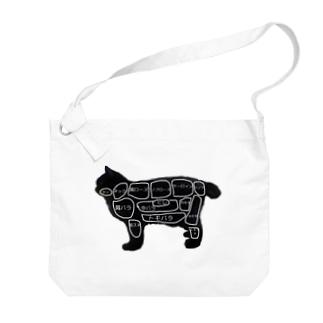 焼肉屋の猫 Big shoulder bags