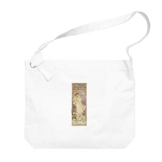 「LA. DAME. / AUX. CAMELIAS / SARAH BERNHARDT」  Mucha, Alphonse/Paris Musées Big shoulder bags