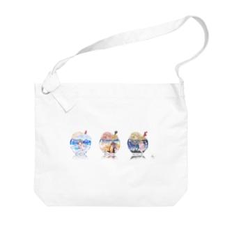 空のクリームソーダ Big shoulder bags