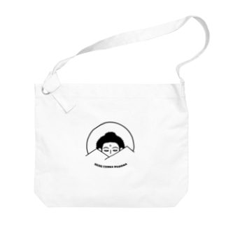 Here Comes Buddha Big shoulder bags