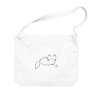 ねことねずみ(無色) Big shoulder bags