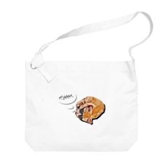 食いしん坊猫さん Big shoulder bags