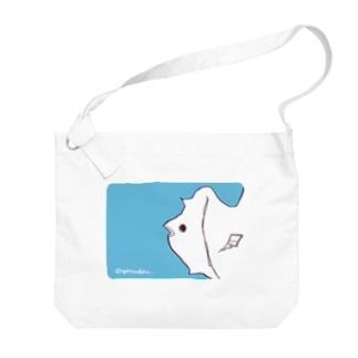 ゆるいおさかな(淡色用) Big shoulder bags