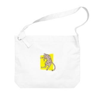 ぐっすり猫 Big shoulder bags