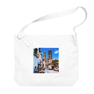 メキシコ:タスコのサンタ・プリスカ教会 Mexico: Santa Prisca / Taxco Big shoulder bags