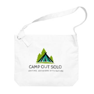 ソロキャンパーロゴ Big shoulder bags