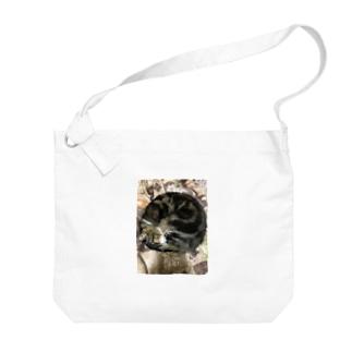 猫のアンモニャイト Big shoulder bags