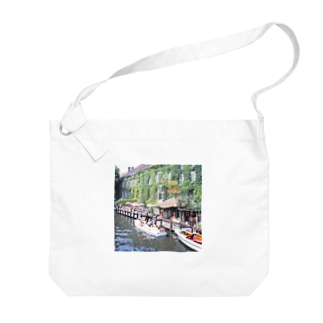 ベルギー:ブリュージュの運河 Bergie: Canal of Bruges Big shoulder bags