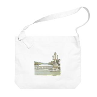 CG絵画:アムステルダムの運河 CG art: Canal in Amsterdam Big shoulder bags