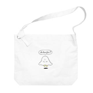 迷えるおばけちゃん Big shoulder bags