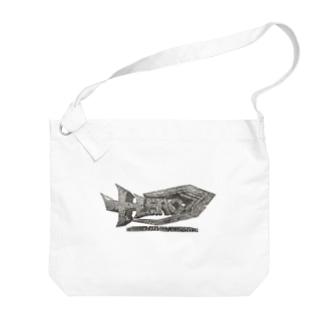 HEROバリアフリープロレスのHERO立体ロゴ Big shoulder bags
