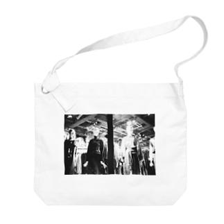 モノクロ3 Big shoulder bags