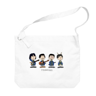 ピラミッドス カートゥーン風 Big shoulder bags