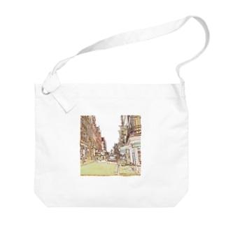 CG絵画:ブリュージュの風景 CG art: Bruges Big shoulder bags
