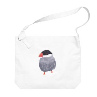 桜文鳥 Big shoulder bags