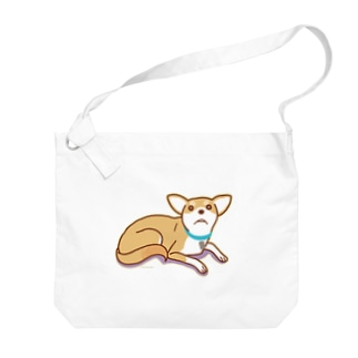 テトさん(犬) Big shoulder bags