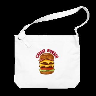 すとろべりーガムFactoryのチーズバーガー Big shoulder bags