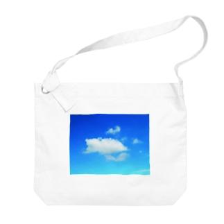 ほっこり♪クマさんの雲 Big shoulder bags