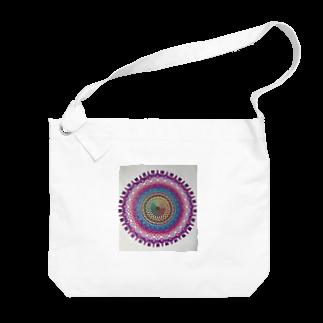 saiko-ruiのマンダラVIOLET Big shoulder bags