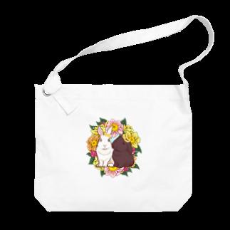 Lichtmuhleのうさぎとリース Big shoulder bags