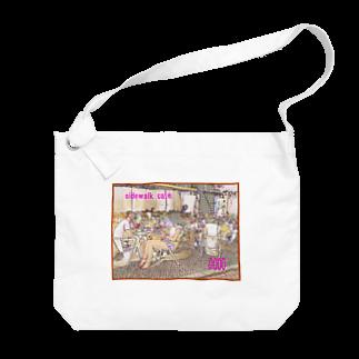 FUCHSGOLDのCG絵画:カフェテラス CG art: Sidewalk café Big shoulder bags