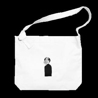 my___illustのショートカット Big shoulder bags